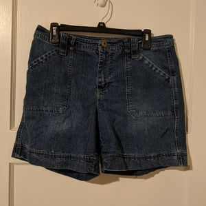 Faded Glory Size 10 Stretch Jean Shorts